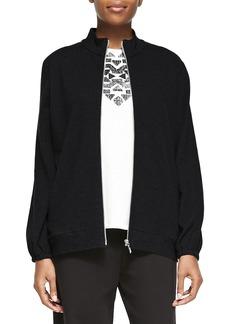 Joan Vass Mock-Neck Zip-Front Jacket  Petite