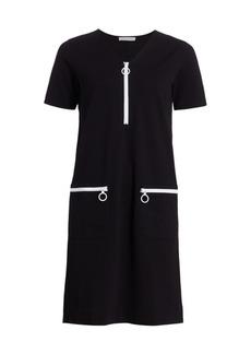 Joan Vass Mod Zip Mini Dress