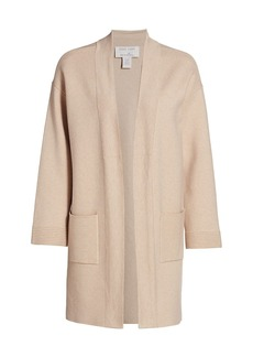 Joan Vass Open-Front Sweater Cardigan