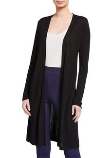 Joan Vass Open-Front Viscose Duster