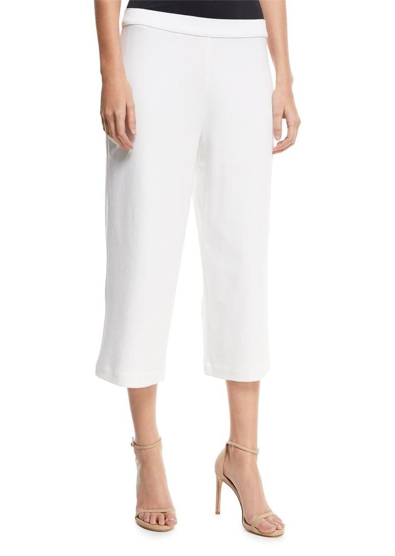 Joan Vass Petite Cropped Wide-Leg Pants