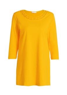 Joan Vass Petite Cutout Cotton Tunic