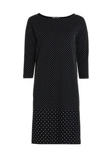 Joan Vass Petite Embellished Cotton Sheath Dress
