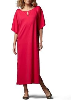 Joan Vass Petite Keyhole-Detail Long Dolman Dress