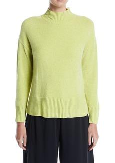 Joan Vass Petite Mock-Neck Chenille Pullover Sweater