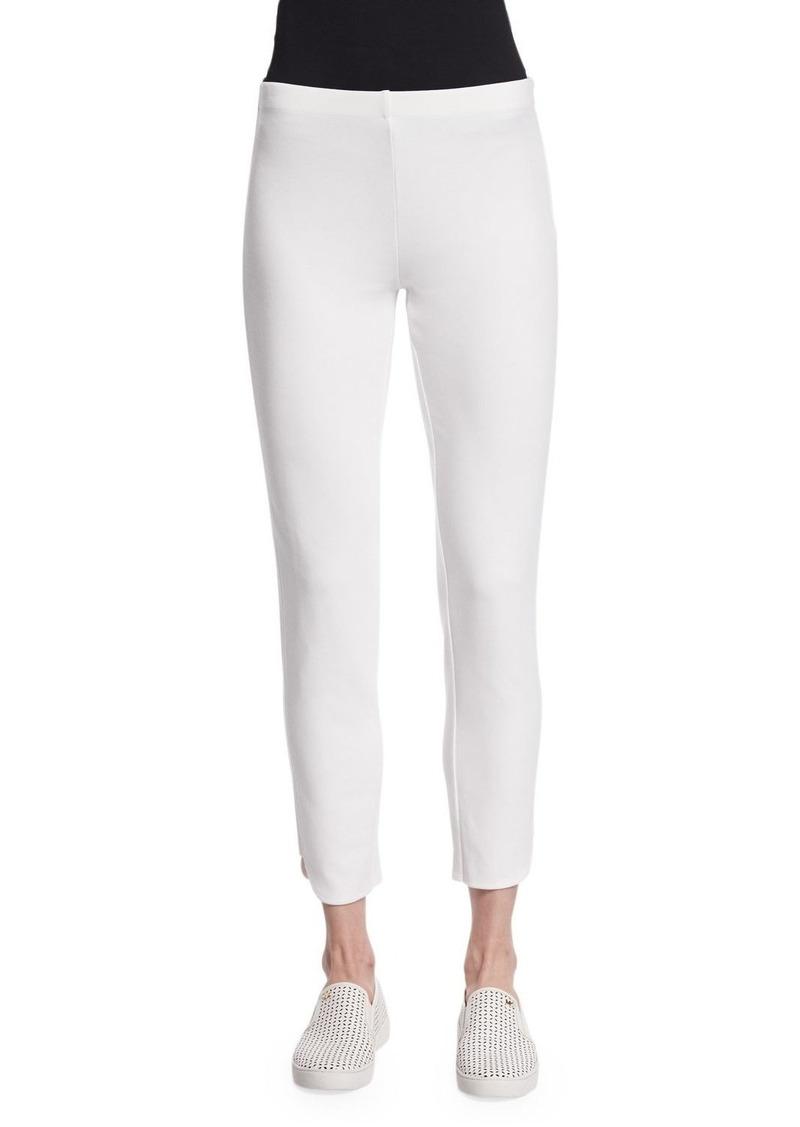 Joan Vass Petite Ponte Ankle Pants  White