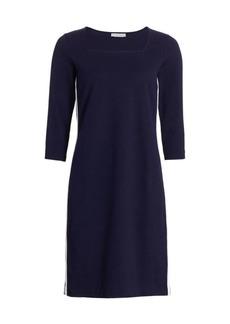 Joan Vass Petite Side Stripe Sheath Dress