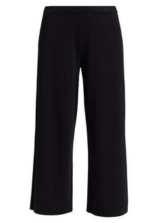 Joan Vass Petite Wide-Leg Trousers