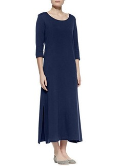Joan Vass Plus Size Interlock Easy Maxi Dress