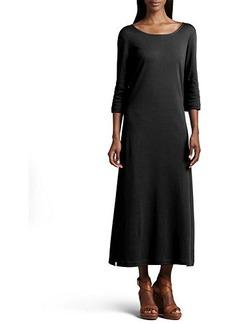 Joan Vass Plus Size Interlock Easy Maxi Dress