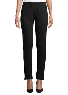 Joan Vass Pull-On Slim-Leg Pants