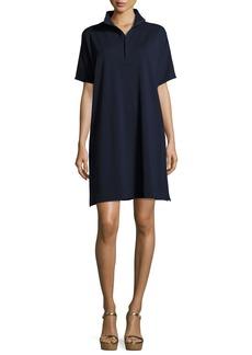 Joan Vass Short-Sleeve Pique Dress