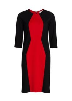 Joan Vass Silhouette Colorblock Dress