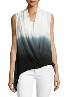 Joan Vass Sleeveless Dip-Dyed Top
