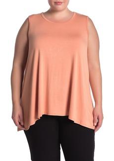 Joan Vass Sleeveless Knit Top (Plus Size)