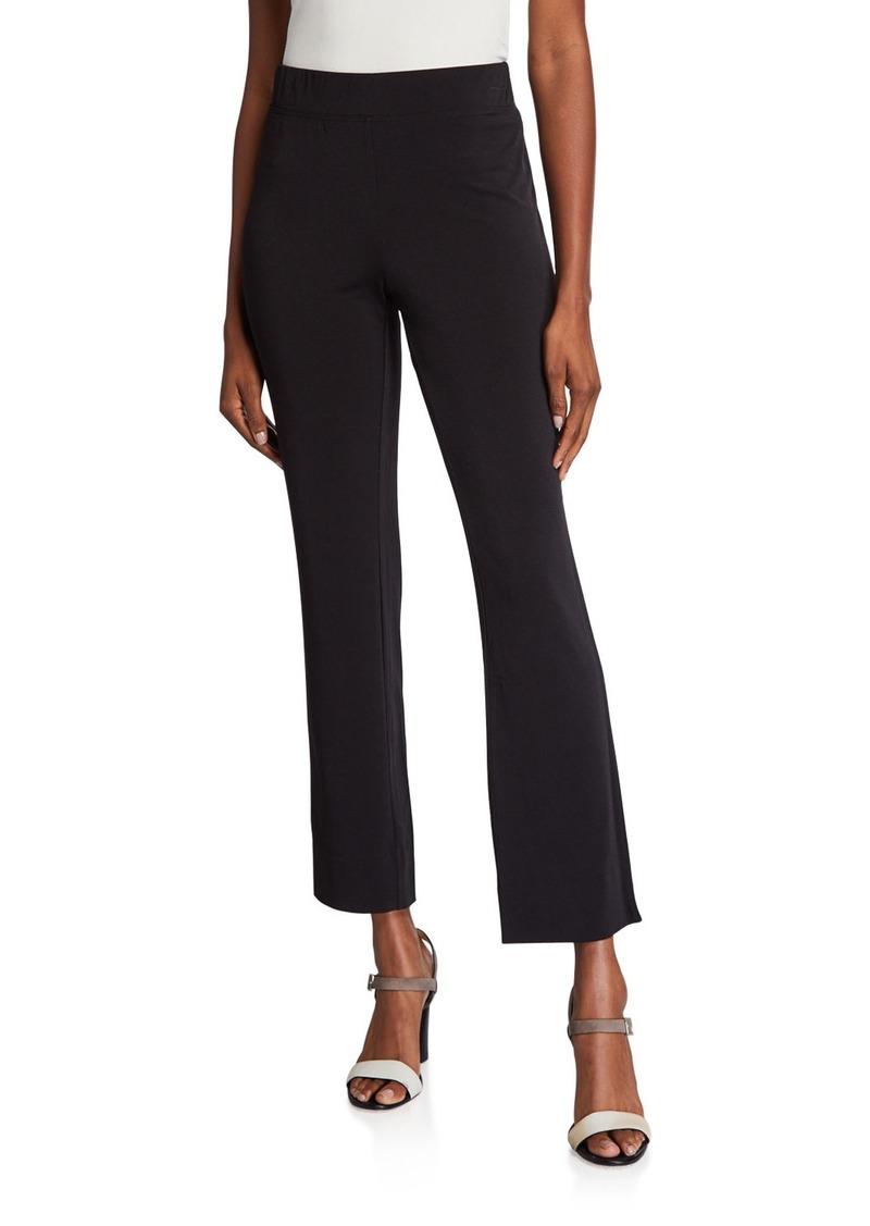 Joan Vass Solid Slim-Leg Knit Pants
