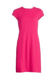 Joan Vass Stretch Pique Casual Dress