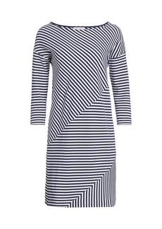 Joan Vass Striped Contrast Mini Dress