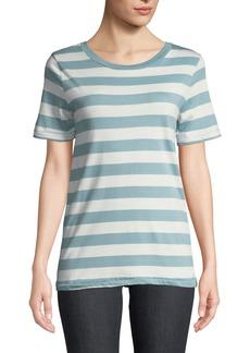 Joan Vass Striped Jersey Crewneck Tee