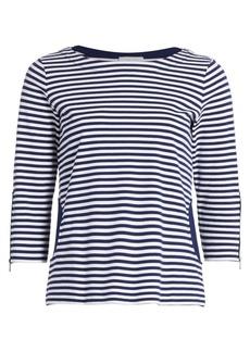 Joan Vass Striped Pocket Top