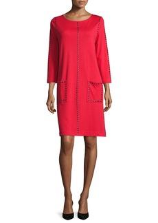 744fc25e2 Joan Vass Knit Zip-Pocket Shift Dress | Dresses