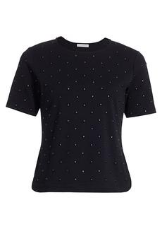 Joan Vass Studded Front T-Shirt