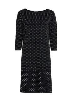 Joan Vass Studded Shift Dress