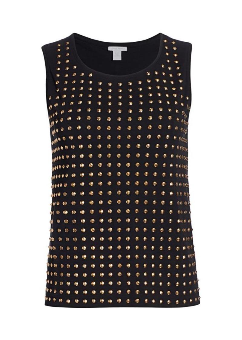 Joan Vass Studded Sleeveless Top