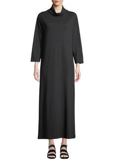 Joan Vass Turtleneck Maxi Dress