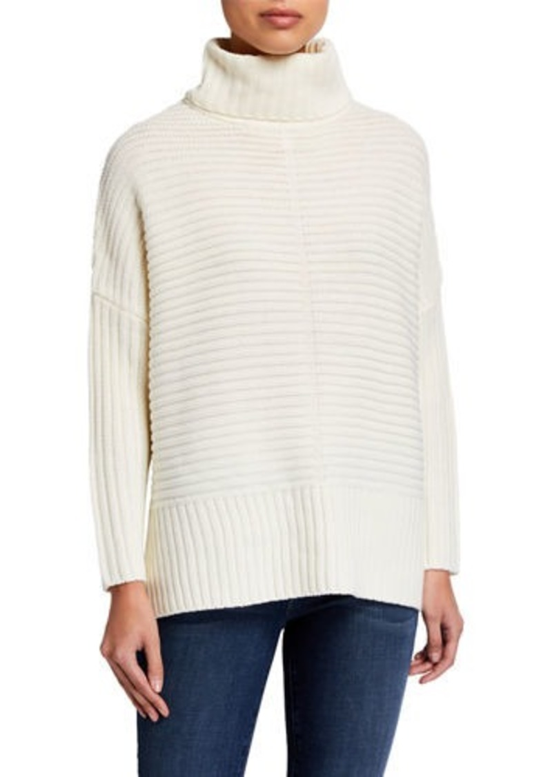 Joan Vass Turtleneck Wool-Blend Sweater