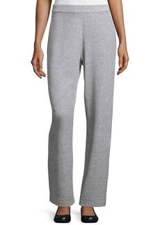 Joan Vass Velour Full-Length Jog Pants