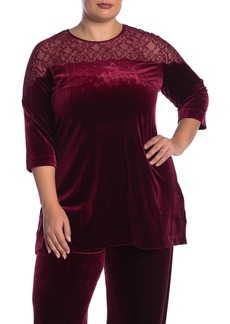 Joan Vass Velvet & Lace Tunic (Plus Size)
