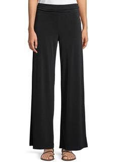 Wide-Leg Matte-Jersey Pants