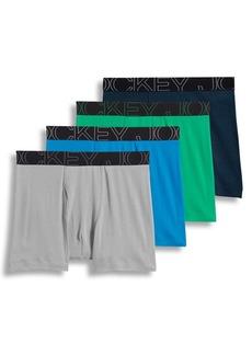 Jockey Active Blend Boxer Briefs Four-Pack