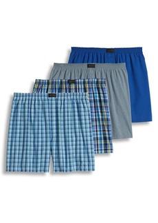 Jockey Four-Pack Active Blend Boxer Shorts