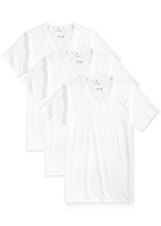 Jockey Men's 3 Pack Essential Fit Staycool + V-Neck Cotton Undershirts