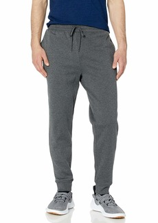 Jockey Men's Active Basic Fleece Jogger Sweatpants Marled Dark Charcoal HEATHER-02313