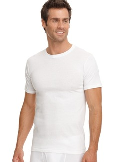 jockey men's big & tall classic crew tagless Undershirts 2-pack with staynew technology