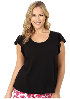 Jockey Plus Size Flutter Sleeve Short Sleeve Top
