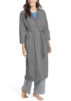 Jockey Plus Size Long Cotton Wrap Robe