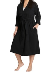 Jockey Plus Size Everyday Essentials Cotton Long Wrap Robe