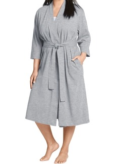 Jockey Plus Size Long Cotton Wrap Robe