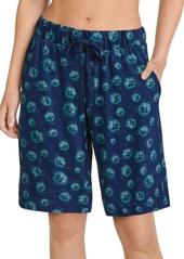Jockey Printed Cotton Bermuda Lounge Shorts
