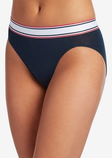 Jockey Retro Stripe Hi-Cut Panty 2254, First at Macy's, also available in extended sizes