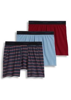 Jockey Three-Pack Essential Fit Max Stretch Boxer Briefs