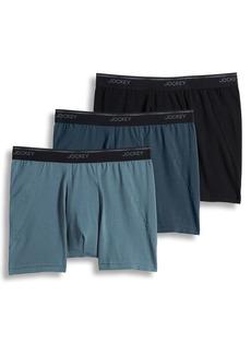 Jockey Three-Pack Essential Fit MaxStretch Boxer Briefs