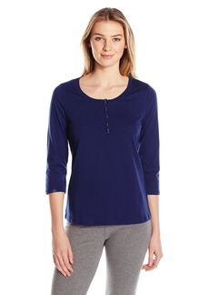 Jockey Women's 3/4 Sleeve Henley Top  L
