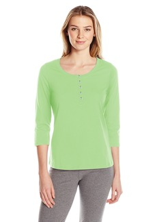 Jockey Women's 3/4 Sleeve Henley Top  XL