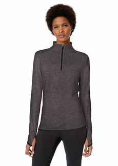 Jockey Women's Active Half Zip Pullover Top deep Black