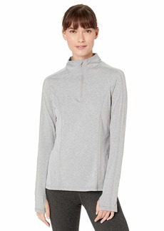 Jockey Women's Active Half Zip Pullover Top Light Heather Grey Melange-07100